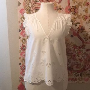 Madewell Ivory Blouse Small